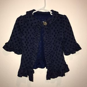 Navy dot persnickety cardigan jacket blue